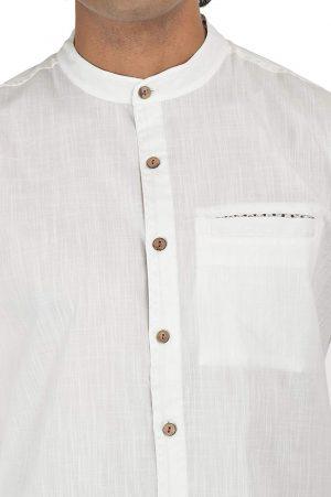 Less Is More- Block Printed - Maroon- Shirt