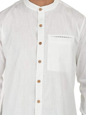 Less Is More - Block Printed - Grey- Shirt