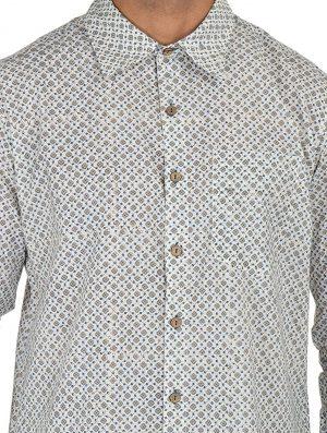 Geo Prints - Block Printed - Grey- Shirt