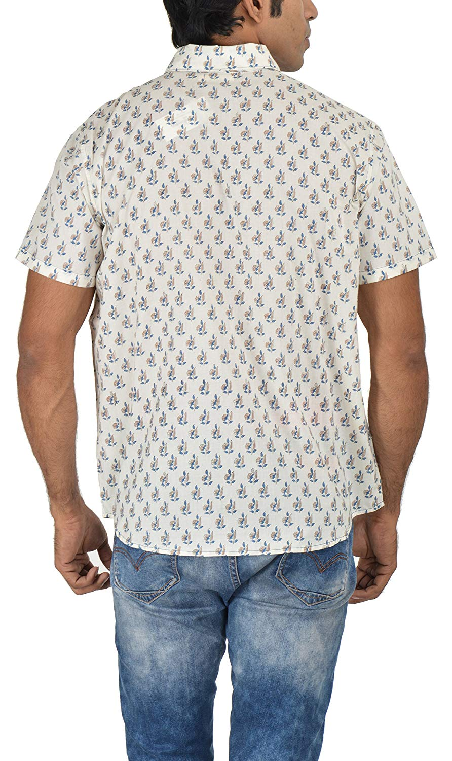Holiday Shirt - Block Printed - Blue- Shirt