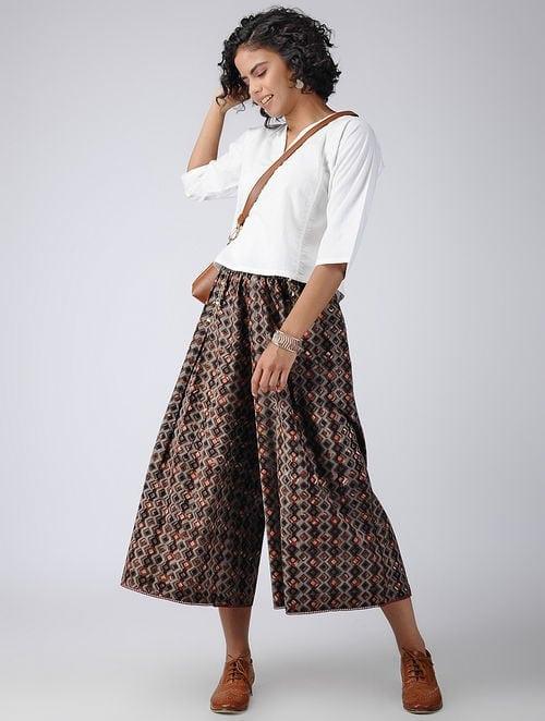 Dabu Diaries - Block Printed - Brown - Tile Culotte