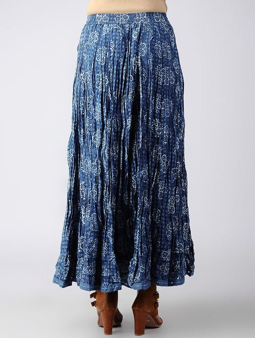 Dabu Diaries- Block Printed - Blue - Blue Tier Skirt