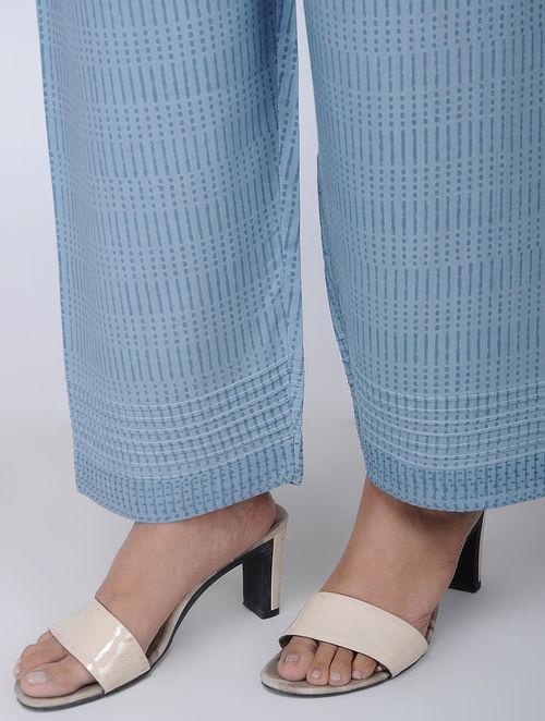 Print Charm - Block Printed - Blue- Pant