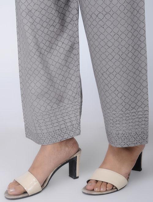 Print Charm - Block Printed - Grey - Pant