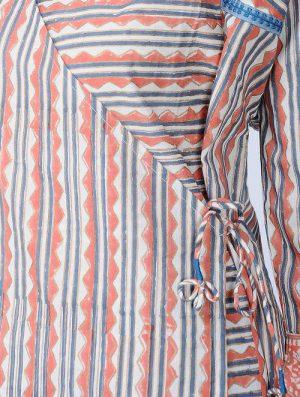 Print Charm - Block Printed - Coral- Kim Top