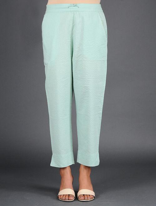 Glitter Shimmer - Woven - Green- Pant