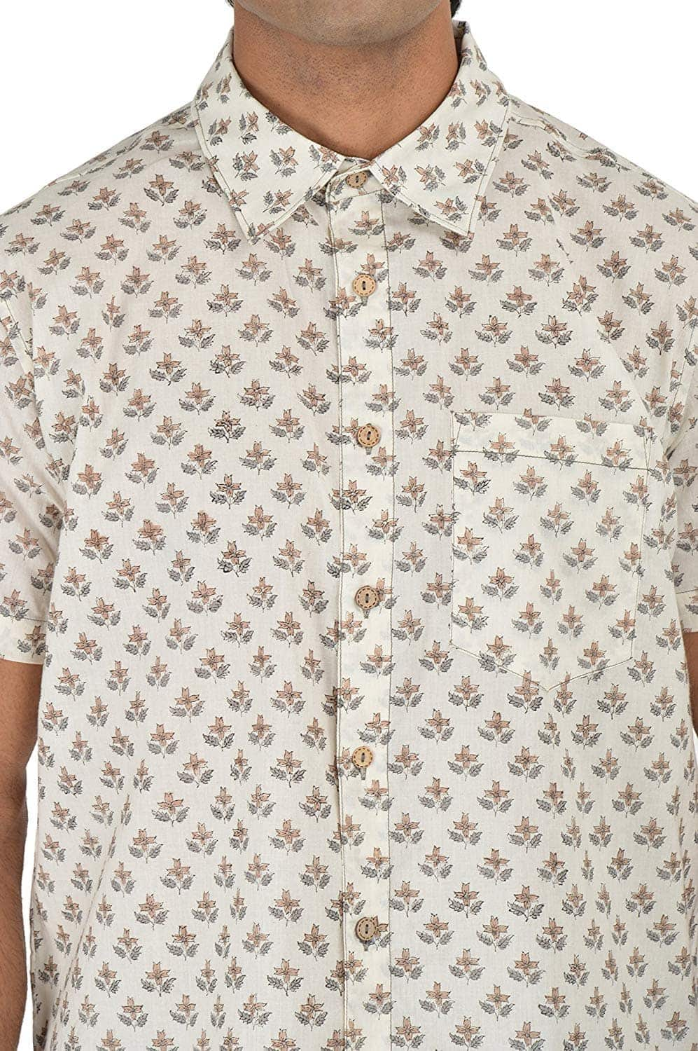 Holiday Shirt - Block Printed - Beige- Shirt