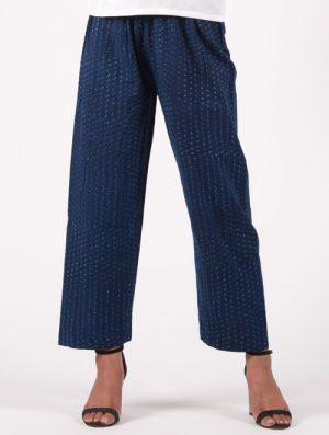 Neel - Handblock - Indigo - Straight Pants