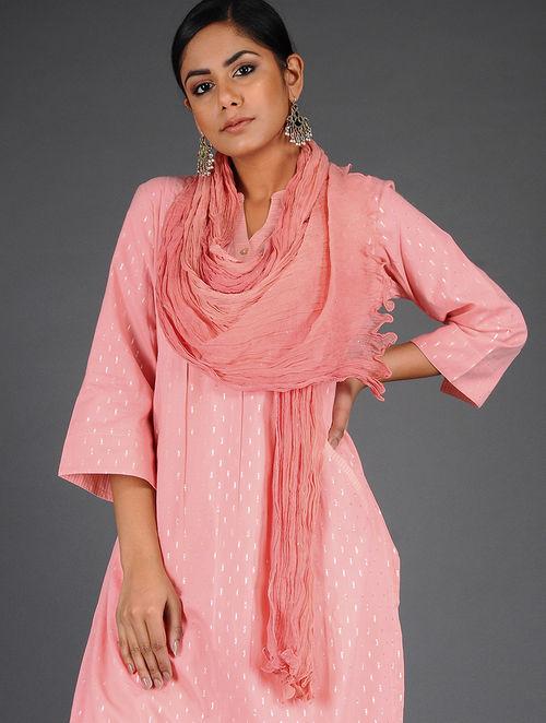 Glitter Shimmer - Dyed- Pink- Chiffon Dupatta