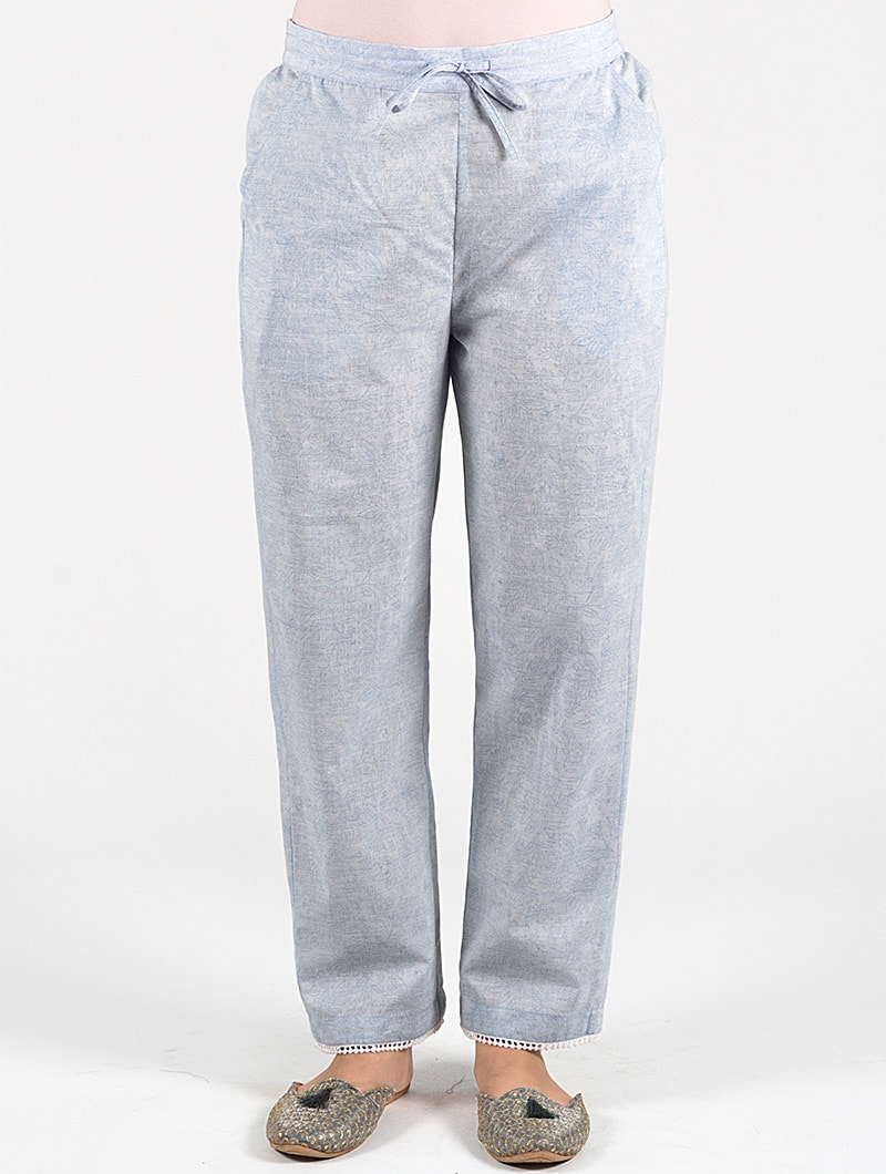 Dharan-Floral-Printed-Straight-Pants-Blue