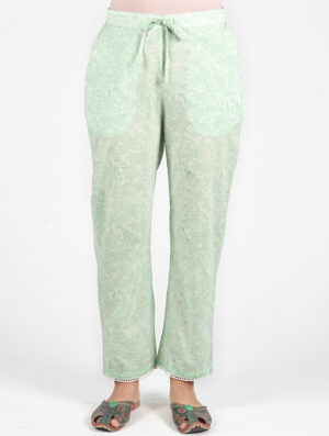 Dharan-Mint-Green-Floral-Printed-Straight-Pants-